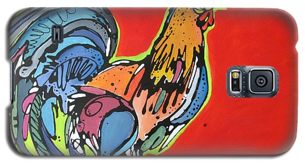 Galaxy S5 Case featuring the painting Red Rooster by Nicole Gaitan