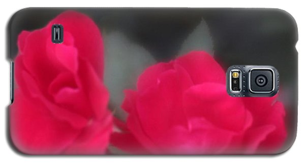 Galaxy S5 Case featuring the photograph Red Rose Harmony by Mary Lou Chmura