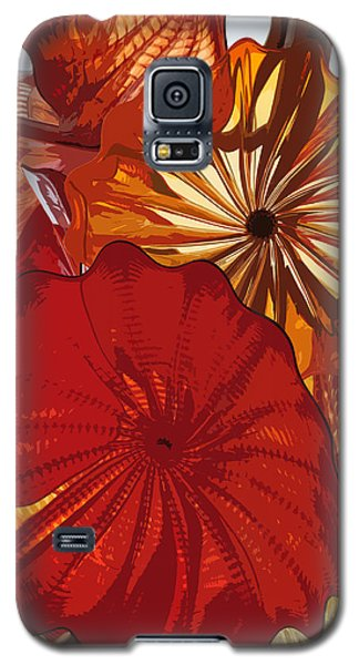 Galaxy S5 Case featuring the digital art Red Rose by Kirt Tisdale