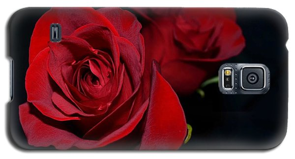 Galaxy S5 Case featuring the photograph Red Roses For A Blue Lady by Luther Fine Art