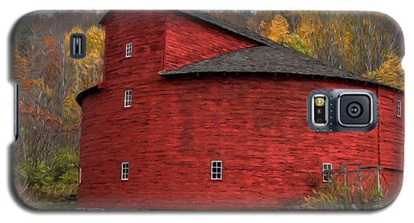 Red Round Barn Galaxy S5 Case