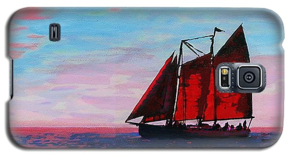 Red Sails On The Chesapeake - New Multimedia Acrylic/oil Painting Galaxy S5 Case