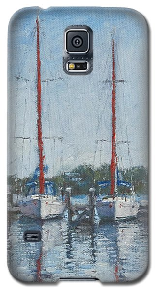 Red Sails Under Gray Sky Galaxy S5 Case