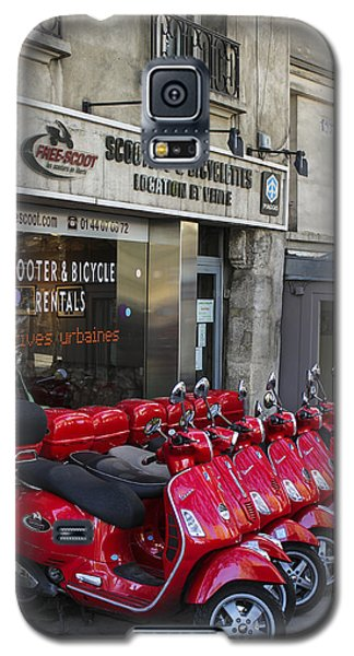 Galaxy S5 Case featuring the photograph Red Scooters by Glenn DiPaola