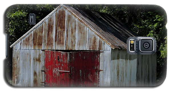 Red Shed Galaxy S5 Case by Ed Waldrop