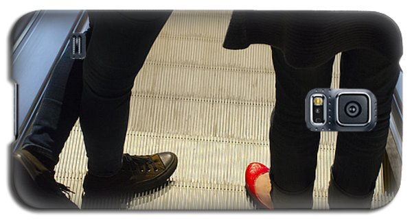 Red Shoe On Escalator Galaxy S5 Case