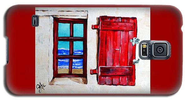 Red Shutter Ocean Galaxy S5 Case by Jackie Carpenter