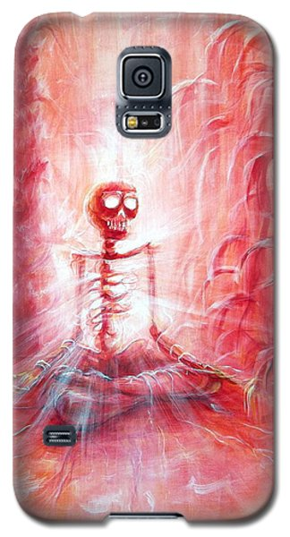 Red Skeleton Meditation Galaxy S5 Case
