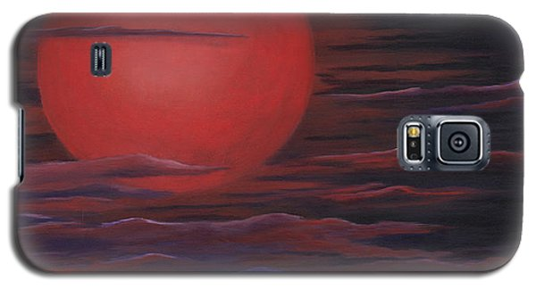 Galaxy S5 Case featuring the painting Red Sky A Night by Michelle Joseph-Long