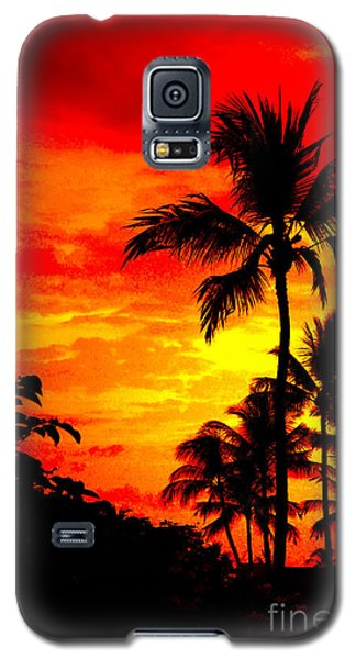 Galaxy S5 Case featuring the photograph Red Sky At Night by David Lawson