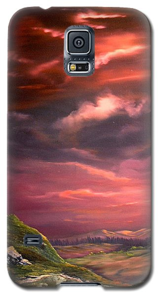 Red Sky At Night Galaxy S5 Case by Jean Walker