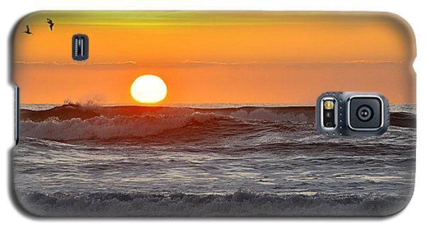 Red Sky At Night Sailors  Delight Galaxy S5 Case by AJ  Schibig