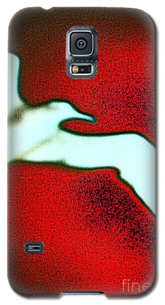 Red Sky Seagull Galaxy S5 Case by Jacqueline McReynolds