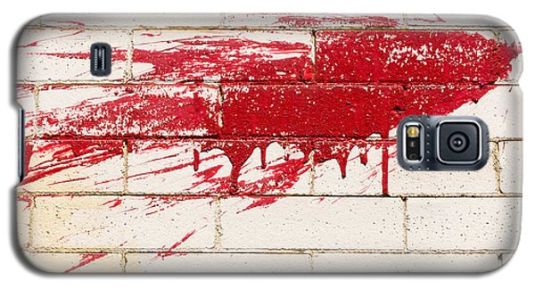 Red Splash On Brick Wall Galaxy S5 Case