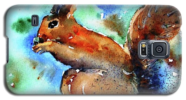 Galaxy S5 Case featuring the painting Red Squirrel  by Trudi Doyle