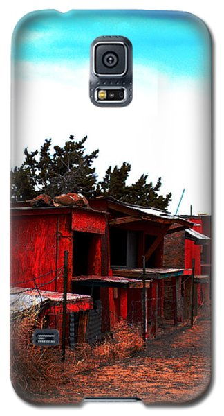 Galaxy S5 Case featuring the photograph Red Stands by Maggy Marsh