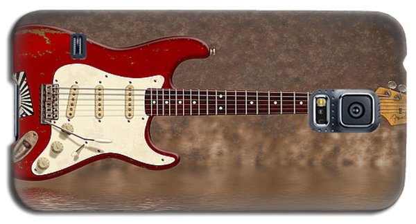 Red Strat 3 Galaxy S5 Case by WB Johnston