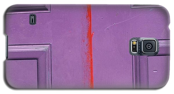 Galaxy S5 Case featuring the photograph Red Stripe by Peggy Stokes
