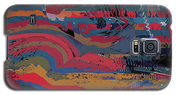 Galaxy S5 Case featuring the digital art Red Stripes by David Klaboe