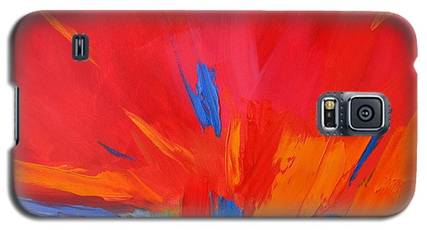 Red Sunset, Modern Abstract Art Galaxy S5 Case