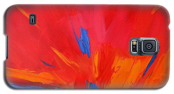 Red Sunset, Modern Abstract Art Galaxy S5 Case