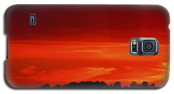 Red Sunset Galaxy S5 Case