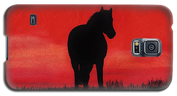 Red Sunset Horse Galaxy S5 Case by D Hackett