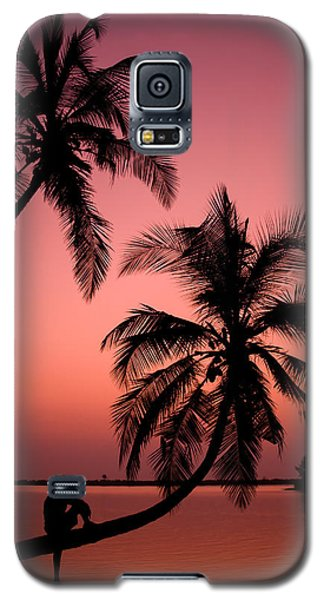 Red Sunset In The Tropics Galaxy S5 Case
