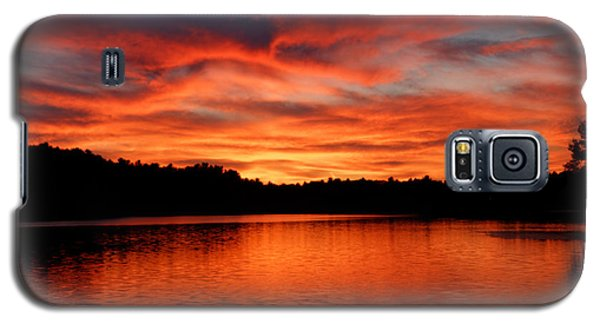 Red Sunset Reflections Galaxy S5 Case by Denyse Duhaime