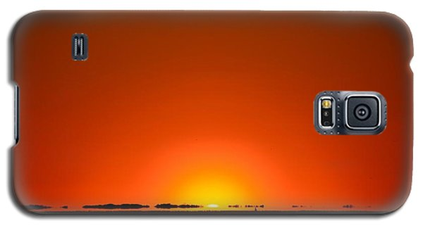 Galaxy S5 Case featuring the photograph Red Sunset With Superior Mirage On Santa Rosa Sound by Jeff at JSJ Photography