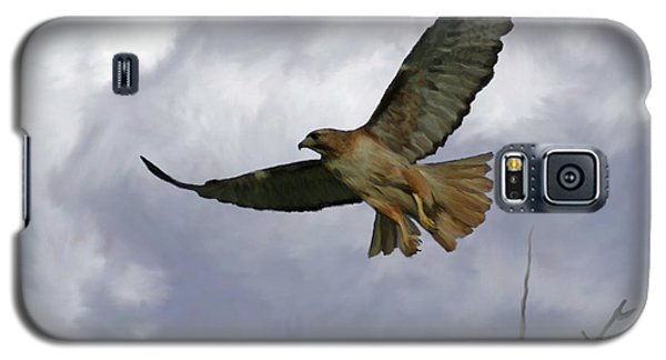 Red Tail Hawk Digital Freehand Painting 1 Galaxy S5 Case