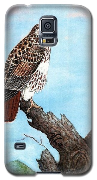 Galaxy S5 Case featuring the painting Red Tailed Hawk by VLee Watson