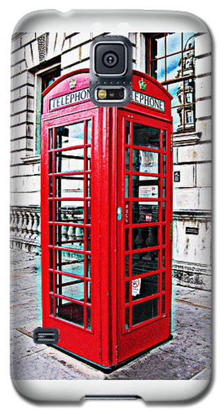 Red Telephone Box Call Box In London Galaxy S5 Case