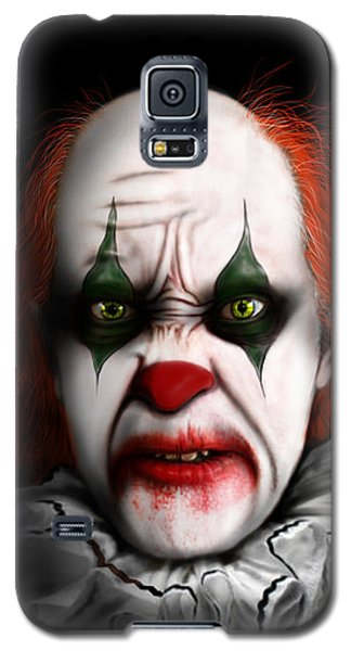 Galaxy S5 Case featuring the digital art Red The Clown by Jeremy Martinson