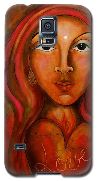 Red Thread Madonna Galaxy S5 Case by Deborha Kerr
