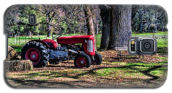 Red Tractor On The Farm Galaxy S5 Case by William Havle