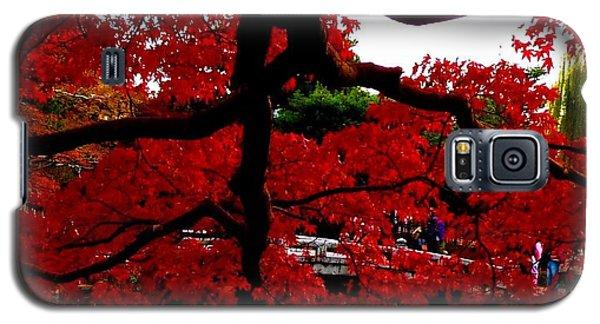 Red Tree Galaxy S5 Case by Julia Ivanovna Willhite