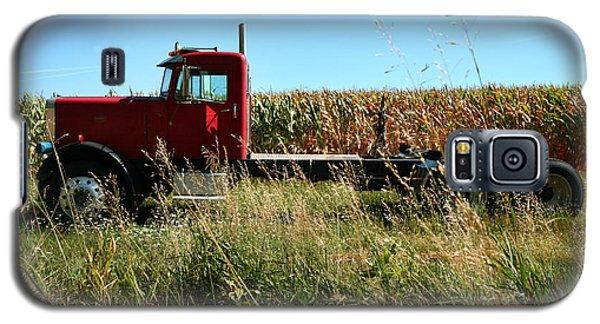 Red Truck In A Corn Field Galaxy S5 Case
