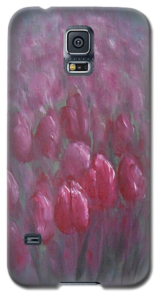 Galaxy S5 Case featuring the painting Red Tulips by Jane  See