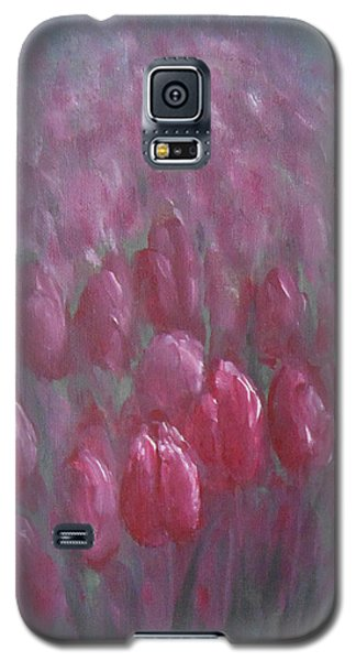 Red Tulips Galaxy S5 Case by Jane  See