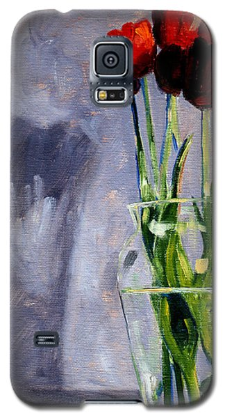 Red Tulips Galaxy S5 Case by Nancy Merkle