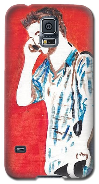 Galaxy S5 Case featuring the painting Red Tyler by Audrey Pollitt
