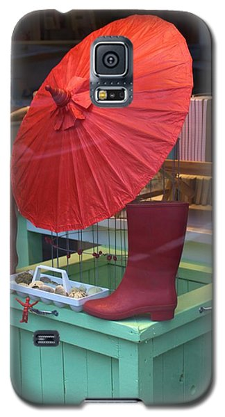 Galaxy S5 Case featuring the photograph Red Umbrella by Douglas Pike