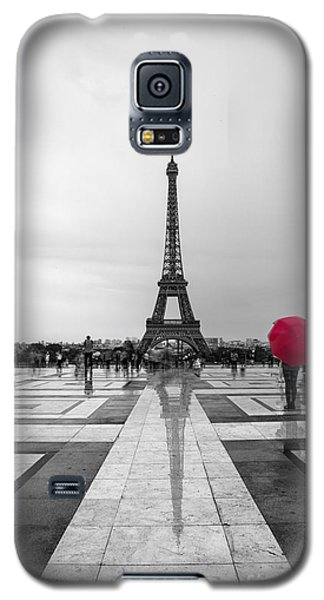 Paris Galaxy S5 Case - Red Umbrella by Timothy Johnson