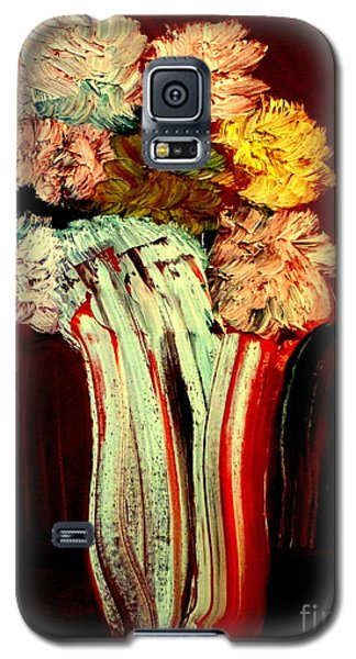 Galaxy S5 Case featuring the painting Red Vase 7 by Bill OConnor