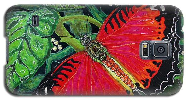 Red Butterfly Galaxy S5 Case by Debbie Chamberlin