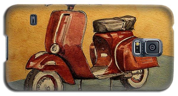 Motorcycle Galaxy S5 Case - Red Vespa by Juan  Bosco