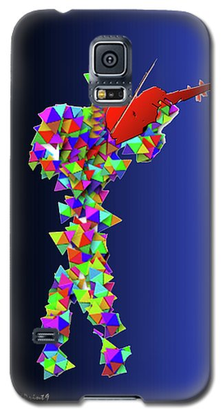 Galaxy S5 Case featuring the digital art Red Violin by Asok Mukhopadhyay