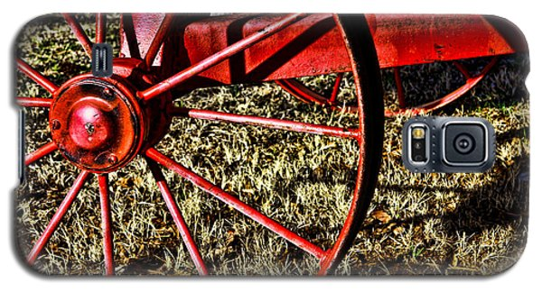 Galaxy S5 Case featuring the photograph Red Wagon Wheel by Lawrence Burry