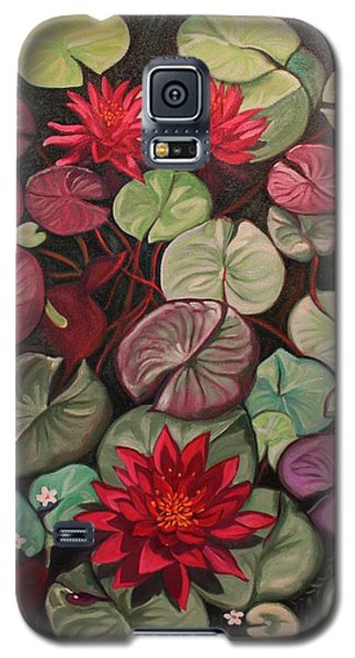 Red Water Lilies Galaxy S5 Case
